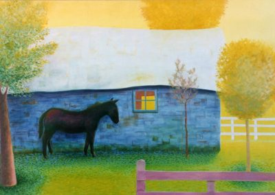 Horse and Shed by Fran Sowton